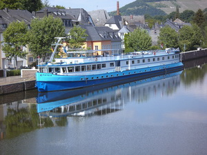 Germany ship MS Patria on the Moselle river from Koblenz to Saarburg