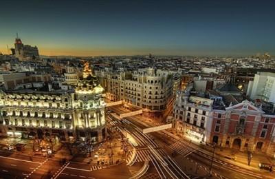 Madrid at night-Spain Gran Via