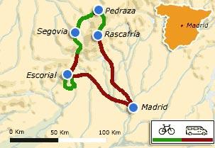 MTB Route Saddlebags By The Sierra De Guadarrama Madrid