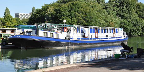 Ship Clair Lune Amsterdam-Brugge bike and boat