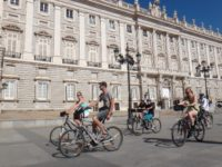 Oriente/palace square Madrid city sightseeing bike tour