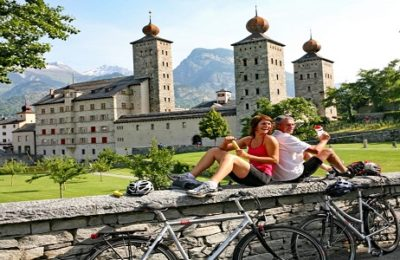 Switzerland Rhone river self-guided bike tour