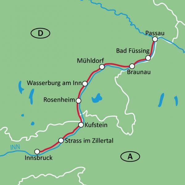 Bravobike AustriaInn river self guided bike tour from Innsbruck to