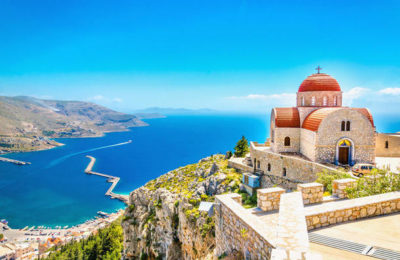 Central Greek Aegean bike and boat tour