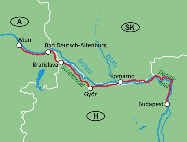 Bravobike Vienna Bratislava Budapest Self Guided Bike Tour