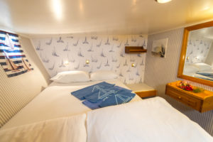Cyclades bike and boat-tour ship Panagiota cabin