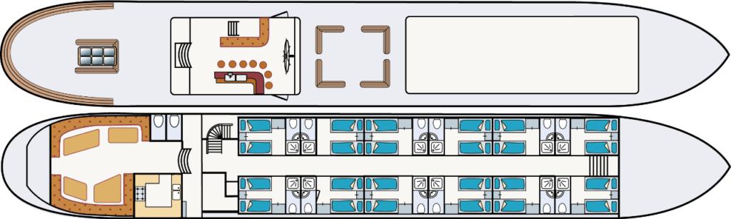 Floor plan Wapen fan Fryslan boat holland netherlands