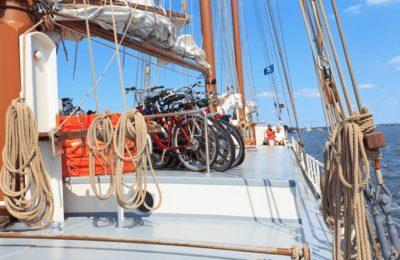 Ijsselmeer bikes boat netherlands