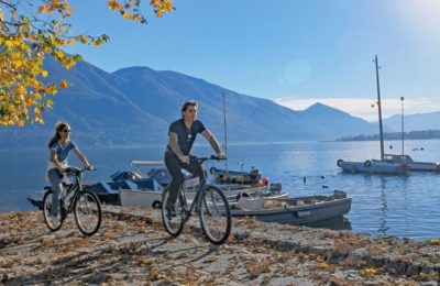 Switzerland lake Maggiore cycle route to Locarno