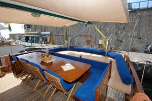 italy amalfi sun deck diner maria giovanna boat bike