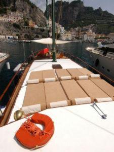 italy amalfi sun deck maria giovanna boat bici